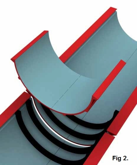 Beaded Half Round Aluminium Snap Fit Gutters Extruded