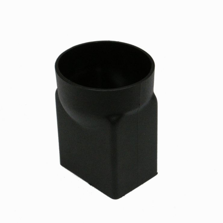 100mm x 75mm Plastic Cast Iron Style Rectangular Downpipe Adaptor