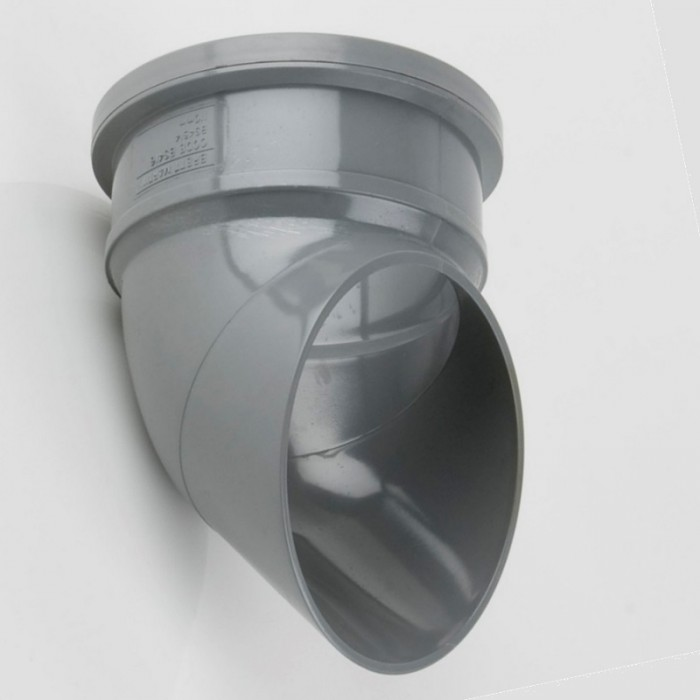 110mm Industrial Downpipe Shoe Grey