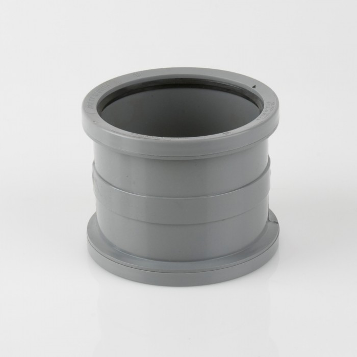 110mm Industrial Downpipe Coupler Grey