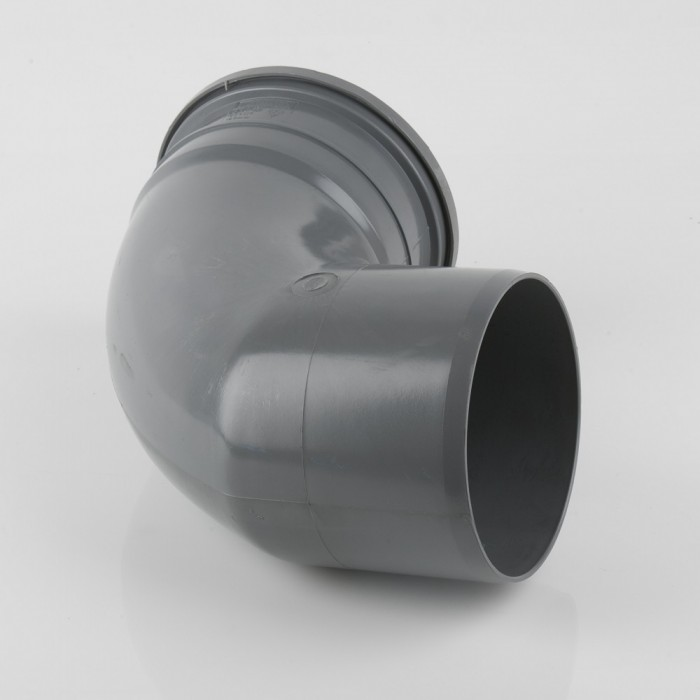 160mm Industrial Downpipe Bend 92.5 Degrees Grey