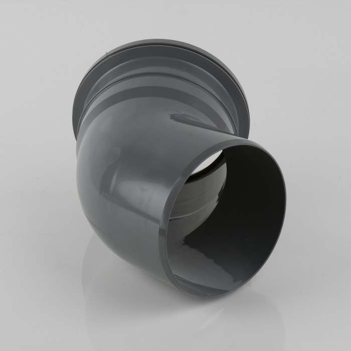 160mm Industrial Downpipe Bend 135 Degrees Grey