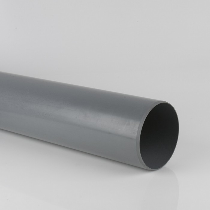160mm Industrial Downpipe x 3m Plain Ended Grey