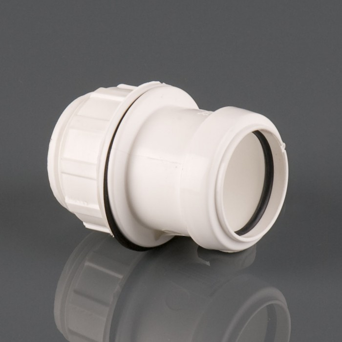 32mm Push Fit Tank Connector White ? & 32mm Push Fit Waste Pipe Straight Tank Connector - Push Fit Waste ...