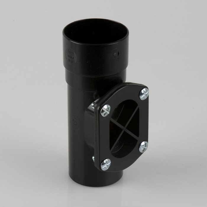 68mm Round Downpipe Access Pipe Black