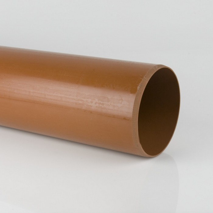 Brett Martin 200mm Plain Ended Sewer Pipe x 3m