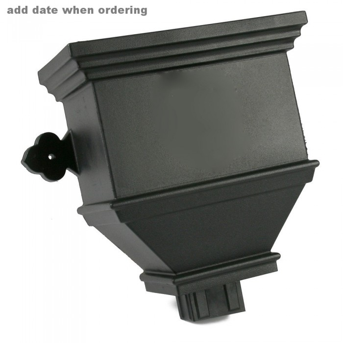 100mm x 75mm Rectangular Cast Iron Style PVCu Downpipe Bath Hopper Dated BRH84D