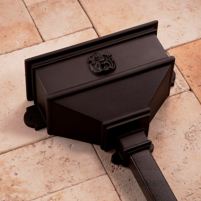 Cast Iron Style Long Hopper with Gargoyle BRH5G