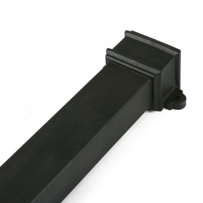 100mm x 75mm Plastic Cast Iron Style Rectangular Downpipe x 1.8m