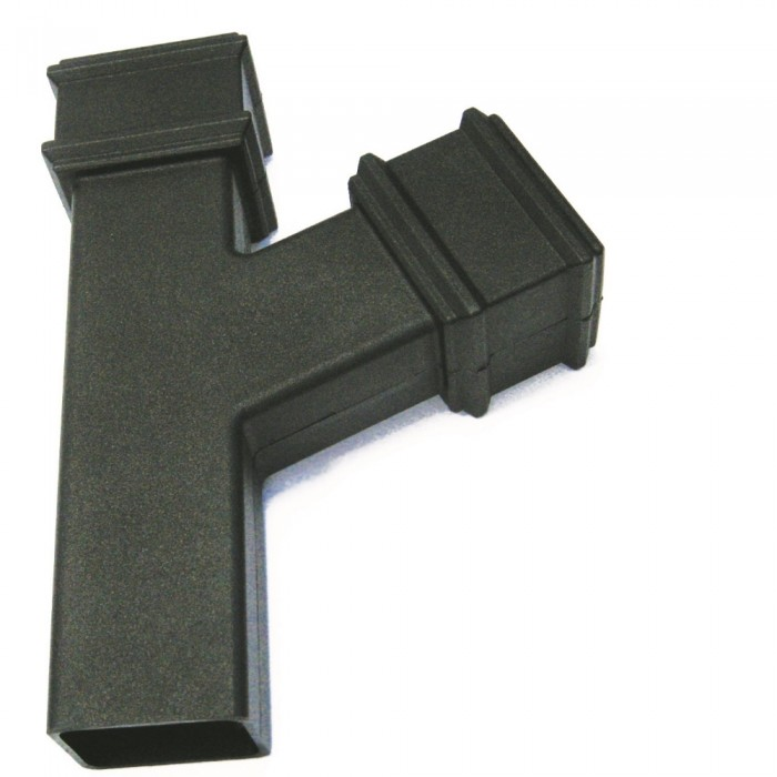 100mm x 75mm Rectangular Cast Iron Style Downpipe Branch 112.5 Degrees
