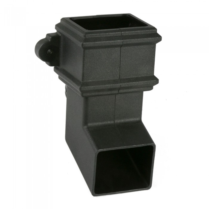 100mm x 75mm Plastic Cast Iron Style Rectangular Downpipe Shoe