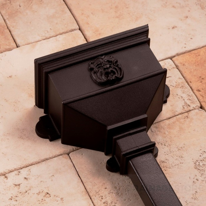 Cast Iron Style Small Hopper with Gargoyle BRH6G