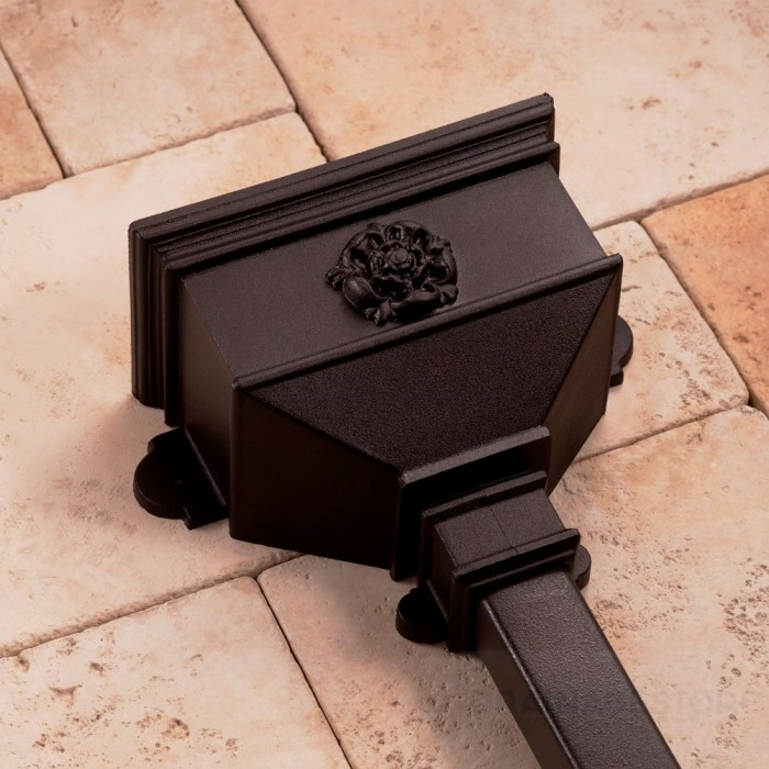 Cast Iron Style Small Hopper with Tudor Rose BRH6TR