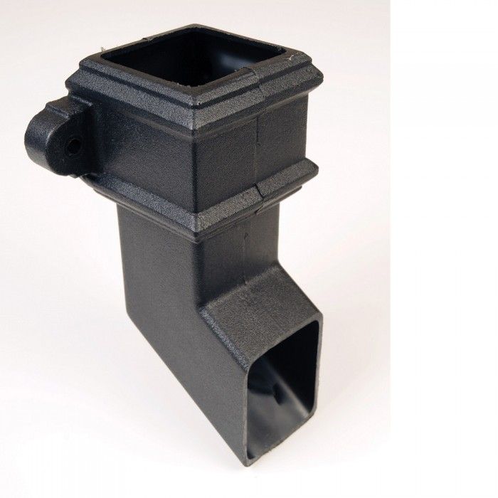 65mm Square Cast Iron Style Downpipe Shoe with Lugs