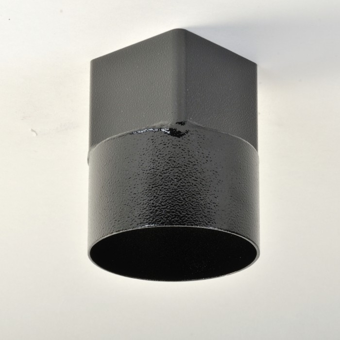 76mm Square Aluminium Downpipe Drain Connector Swaged