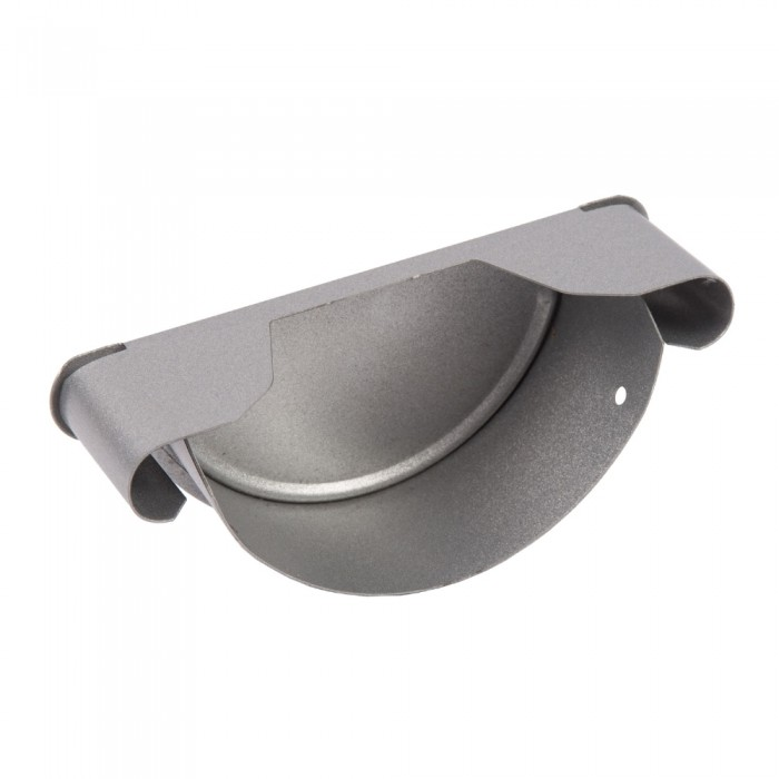 100mm Half Round Steel Gutter Stop End - Drainage Central