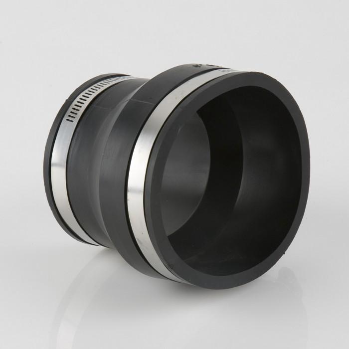 Flexible coupler plastic to plastic 110mm x 82mm for 82mm soil pipe