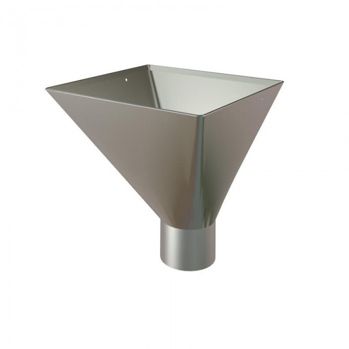 Galvanised Steel Downpipe Large Square Hopper 75mm