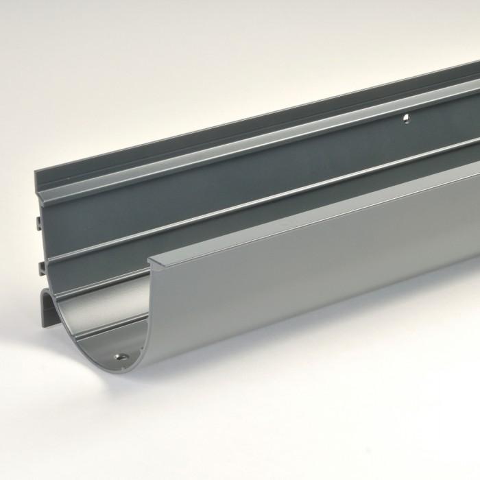 125mm Direct Fix Deepflow Aluminium Gutter X 3m Extruded
