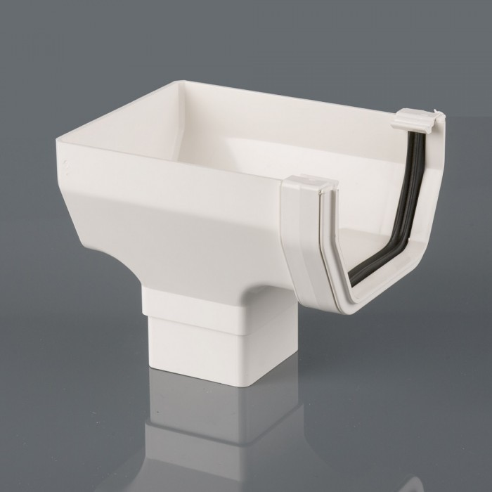 Square Pvcu Gutter Stopend Outlet Guttering Amp Downpipes
