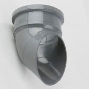 110mm round pvcu industrial downpipe shoe bs416