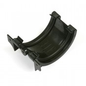 112mm half round cast iron style pvcu gutter union bracket br044ci
