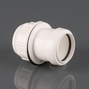32mm push fit waste pipe straight tank connector w905