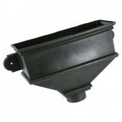 105mm round cast iron style pvcu downpipe long undated hopper brh54