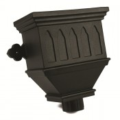 105mm round cast iron style pvcu downpipe bath hopper windowed brh55wi