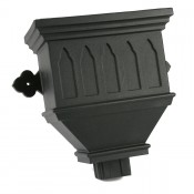 100mm x 75mm rectangular cast iron style pvcu downpipe bath hopper windowed brh84wi