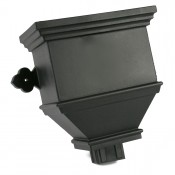 100mm x 75mm rectangular cast iron style pvcu downpipe bath hopper plain brh84
