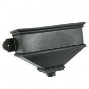 cast iron style pvcu long undated hopper brh5