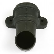 68mm round cast iron style pvcu downpipe shoe with lugs br216lci