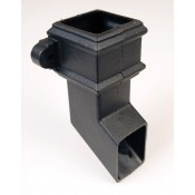 65mm square cast iron style pvcu downpipe shoe br516lci