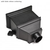 105mm round cast iron style pvcu downpipe bath hopper dated brh55d