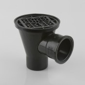 110mm drainage round hopper with horizontal inlet b1022