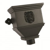 105mm round cast iron style pvcu downpipe bath hopper lion brh55ln
