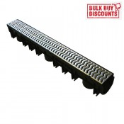 channel drain with galvanised grating x 36m bcg2
