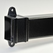 101mm x 76mm rectangular aluminium downpipe cast collar x 3m
