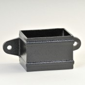 101mm x 76mm rectangular aluminium downpipe eared cast collar