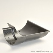 100mm beaded half round cast aluminium gutter angle external 135 degrees