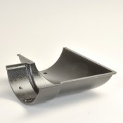 100mm beaded half round cast aluminium gutter angle external 90 degrees