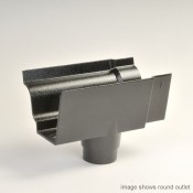 100mm moulded no 46 ogee cast aluminium gutter outlet 76mm square