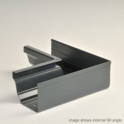 125mm vintage ogee aluminium snap fit external gutter angle 90 degrees