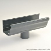 125mm vintage ogee aluminium snap fit gutter outlet 76mm square