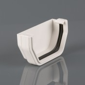 square pvcu gutter external stopend br057