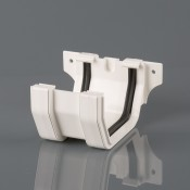 square pvcu gutter union bracket br054