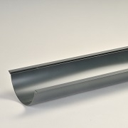 112mm Beaded Half Round Aluminium Snap Fit Gutters