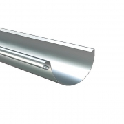 190mm Galvanised Steel Gutter Half Round