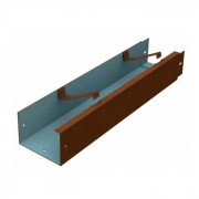 100mm x 75mm Legion Box Aluminium Guttering